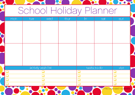 FREE PRINTABLE} Plan your school holidays - The Organised Housewife