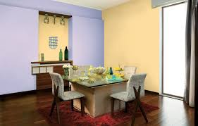 Asian Paints Colour Chart Interior Walls Lavender And Cream Is An Elegant Dining Option