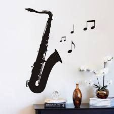 decal al note saxophone wall