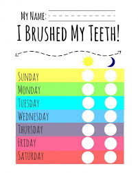 Free Printable Tooth Brushing Chart Free Printable Tooth Brushing Chart Www Bedowntowndaytona Com