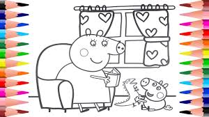 Small Picture Peppa Pig Coloring Pages Painting George Pig and Mummy Pig