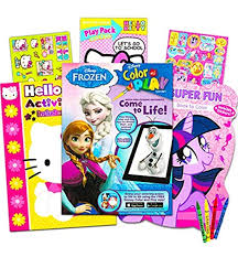 Search through 623,989 free printable colorings at getcolorings. Amazon Com Coloring Books With Stickers Assortment Hello Kitty Coloring Book My Little Pony Coloring Book Disney Frozen Coloring Book Set Of 3 Toys Games