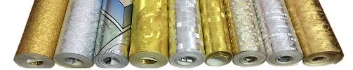 Q QIHANG: Silver/Gold Foil Mosaic - Amazon.com