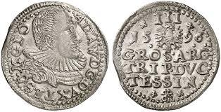 Adam Wenzel, 1579-1617. Dreigröscher 1596. Iger Ci. 96.1 var. (R4); F. u.  S. 2984.
