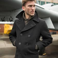 admiral usn peacoat on model