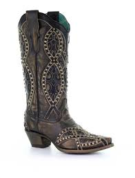 Corral Size Chart Corral Black Overlay Embroidery And Studs Boots E1513