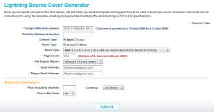 lsi cover template generator for self publishers