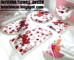 marvelous red bath rugs oval bath rugs inspirations bathroom rugs sets red bathroom rug set modern