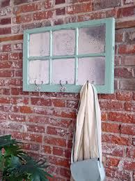 mercury glass window with hooks