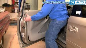 how to install replace remove front door panel chrysler town and country 04 07 1aauto com you