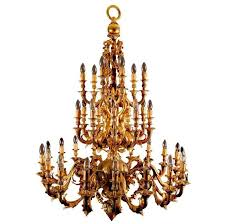french rococo style gilt bronze thirty three light gold antique chandelier for