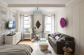 funky studio apartment with lots of light