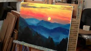 landscape painting tutorial for beginners easy inspirational luxury easy acrylic paint landscape painting design of landscape