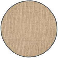 home interior practical round natural fiber rug safavieh beige dark gray 8 ft x area