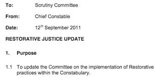 cambridgeshire police restorative justice update richard taylor screenshot from meeting papers