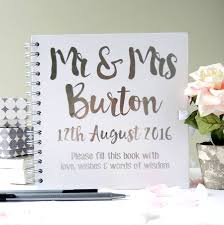 Personalised Mr And Mrs Wedding Guest Book By The Alphabet Gift Shop