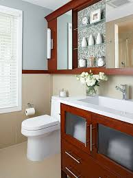 mix and match small bathroom storage