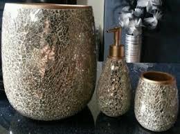 brown mosaic bathroom accessories. gold crackle bathroom accessories new with plans free in brown mosaic r