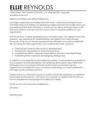 Cover Letter Sample For Test Engineer Zonazoom Com