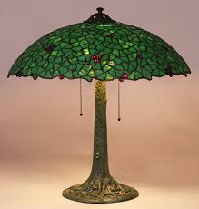 phillip semmer leaded glass lamp c1910