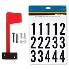 metal mailbox flag. Mailbox Flag Complete Replacement Kit - Includes Flag, Screws And Number Stickers Universal Design Metal