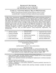 Therapist Counselor Resume Example Pinterest Mental Health And