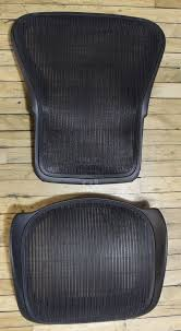 herman miller aeron chair black mesh back seat replacement size b parts rest hermanmiller