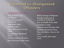 profiling models offender is organized or disorganized 5