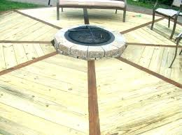fire pit on a wood deck fire pits on wood decks fire pit in wood deck