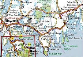 Maine Road Maps Detiled Travel Tourist Driving