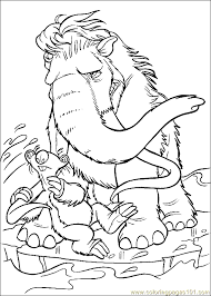 Small Picture Ice Age Coloring Page 01 Coloring Page Free Ice Age Coloring