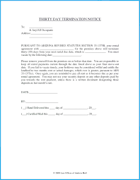 30 day termination letters 30 day termination notice 30 day notice to vacate 30 day 30th