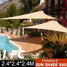 2 4x2 4x2 4m triangle sun shade sail canopy patio garden awning uv block