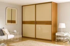 bedroom furniture wardrobes sliding doors. fitted sliding wardrobe cream glass walnut dado bedroom 1 furniture wardrobes doors
