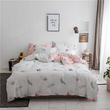 leaf bedding teenage girl bedding queen size bed sheets set cover duvet feather printed duvet cover sheet pillowcase teenage bed pretty duvet covers