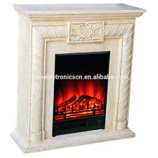full image for white faux stone electric fireplace entertainment center marble mantel