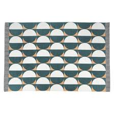 luna small green and pink flat weave rug 120 x 180cm now at habitat uk