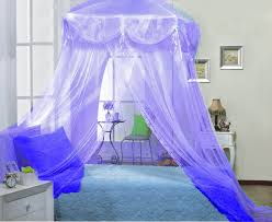 Amazon.com: Purple Lilac Four Corner Square Princess Bed Canopy By Sid:  Home & Kitchen