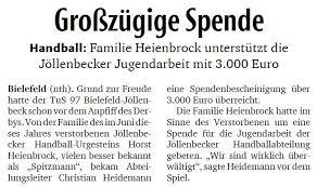 Geldgeschenke können lieblos wirken, wenn sie nicht gut verpackt sind. Tus 97 Bielefeld Jollenbeck 3 000 Euro Fur Die Jollenbecker Handballjugend