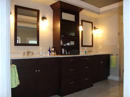 Dark Bathroom Cabinets Dark Bathroom Cabinets With White Countertops Bathroom