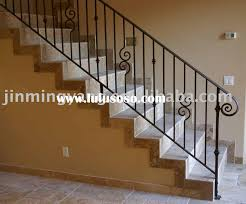 extra long strairs with iron handrails for stairs