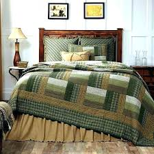 olive green bed set country comforter sets new rustic log cabin quilt tan brown queen bedspread country bedding