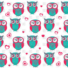 Owl Pattern Best Seamless Pattern With Cute Cartoon Owls And Hearts Vector Image