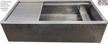 hammered stainless steel farmhouse sink. Next Genteration Workstation Farmhouse Stainless Kitchen Sink Intended Hammered Steel