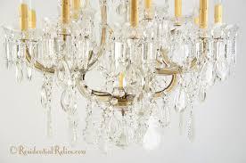 large maria theresa cut crystal chandelier circa 1940s
