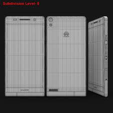 Huawei Ascend P6 S Black 3D Model $49 ...