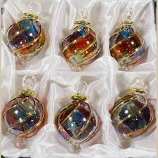 1 6 blown glass egyptian ornaments set of 6 for ornament sets