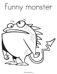 Small Picture funny monster Coloring Page Twisty Noodle