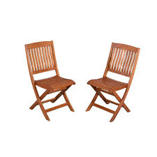 hampton bay adelaide eucalyptus patio dining side chairs the home depot