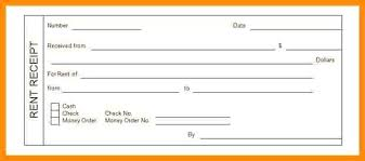 rent paid receipt format receipt for rent paid rental payment receipt form template house